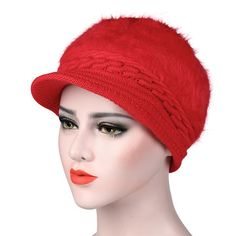 Womens Knitted Woolen Stripe Beret Cap Elegant Ladies Hats Fashionable  Comfortable Caps is hot sale on Newchic Mobile. dcda2189462f