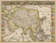 Asia with the Ilands adjoining described, the attire of the people, & Townes of importance, all of them newly augmented . . . 1626 - Barry Lawrence Ruderman Antique Maps Inc.