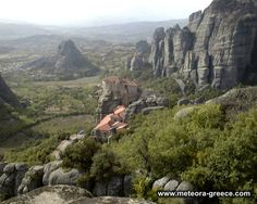 This is the Holy Monastery of ROUSANOU. Pictures don't do this place (Meteora, Greece) justice! [photo courtesy of site on photo]