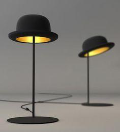 chapeau melon lampe