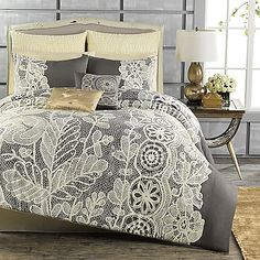 Anthology™ Madeline Reversible Comforter and Sham Set - why is this grey? it's beautiful!