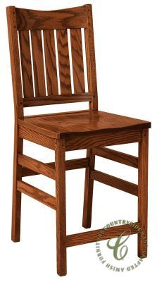 Colbran Bar Stool  - Shown in Quartersawn White Oak with our popular Burnished Honey stain