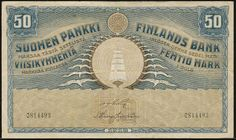 Finland 50 Markkaa 1918 P 39 | eBay Finland now uses the Euro.