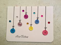 Christmas Card Buttons