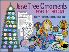 Printable Jesse Tree Ornaments! FREE and EASY! - #catholiccrafts Catholic Inspired