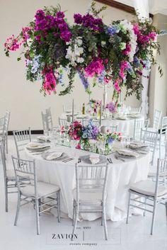 Three Stunning Orchid Decorations For Weddings – Bridezilla Flowers Table Flower Arrangements, Table Flowers, Flowers Garden, Summer Flowers, Floral Wedding, Wedding Flowers, Wedding Bells, Bougainvillea Wedding, Greek Flowers