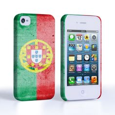 Caseflex iPhone 4 / 4S Retro Portugal Flag Case | Mobile Madhouse #Gift #Present #Apple #AppleiPhone4 #iPhone4 #iPhone #Case #Cover #HardCase #PhoneCover #Retro #Flag #Distressed #Portugal #Portuguese