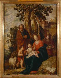 Pesarese (Cantarini Simone detto) - Riposo nella fuga in Egitto - 1630 - Accademia Carrara di Bergamo Pinacoteca