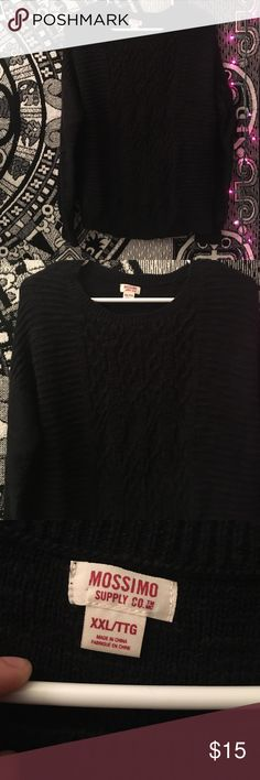 Black Sweater Selling this cute black sweater with different kind if designs on it. Worn it once, it was too small. Great for fall!   🚫DON'T TRADE 💜OPEN TO OFFERS 🎀ALWAYS A SALE (I like to change it up) 💎 LOVE SHARING OTHER PEOPLES ITEMS 🍑 FAST SHIPPER 🌺 SAVE MONEY N BUNDLE 👍🏼 ONLY SHIP ON WEEKDAYS. (I usually work every weekend. The post offices are closed when I get off) 👑if you have any questions, feel free to ask! Mossimo Supply Co. Sweaters Crew & Scoop Necks