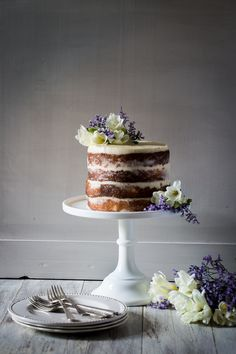 Elderflower, Lemon & Mascarpone Cake