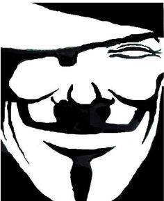 V For Vendetta Mask Stencil stencil pulp fi...