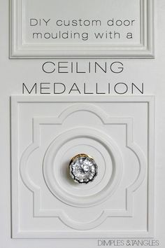 DIY CUSTOM DOOR MOULDING USING A CEILING MEDALLION  ||  Door trim  ||  Custom door molding