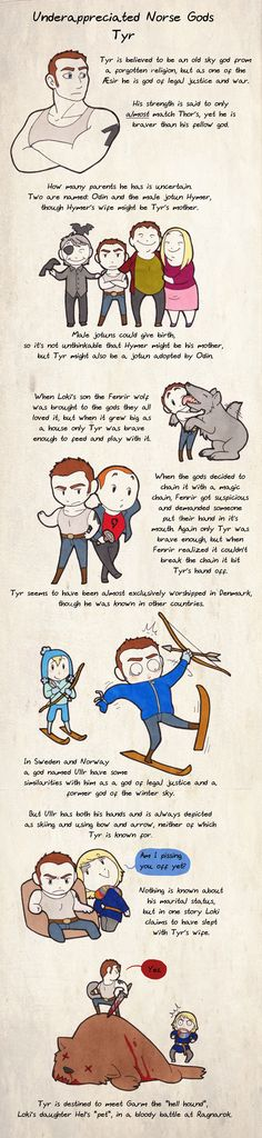 The story of Tyr - just too cute. (From the artist who does Scandinavia and the World)