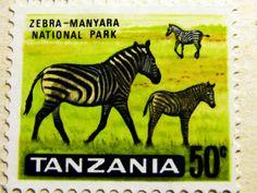 Tanzania - Manyara National Park Stamp