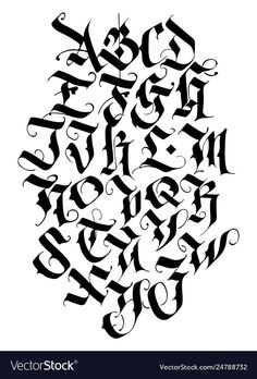 Tattoo Lettering Alphabet, Calligraphy Letters Alphabet, Tattoo Lettering Styles, Chicano Lettering, Graffiti Lettering Fonts, Graffiti Writing, Lettering Design, Letter Stencils To Print, Graffiti Alphabet Styles