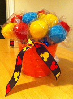 Mickey Mouse Cake Pop Bouquet