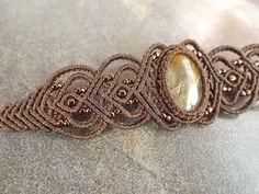 Macrame Bracelet Gold Rutilated Quartz Bracelet With by neferknots