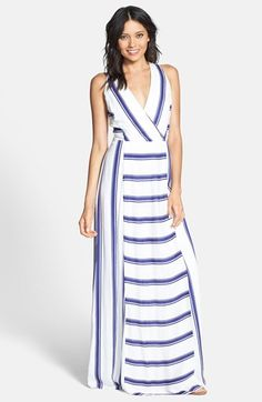 Ella Moss 'Anabel' Stripe Surplice Maxi Dress available at #Nordstrom