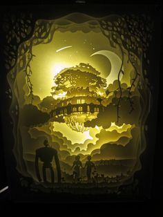 Studio+Ghibli+Castle+In+the+Sky+Laputa+Handmade+Paper+Craft+3D