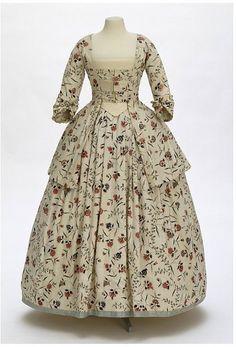Painted Cotton Caraco and Petticoat | c. 1770 | British