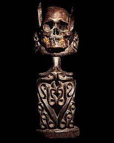 Human Trophy Skulls Asmat Ancestor Skulls DAYAK NAGA IFUGAO Skull Head Hunting Human Trophy Skulls