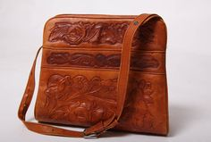 SALE Vintage Embossed Leather Purse by VintageSpins on Etsy, $35.00