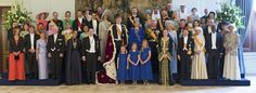 Coronación de los nuevos Reyes de Holanda, tras la abdicación de la Reina Beatriz en favor de su hijo Guillermo Alejandro, y la reina consorte Máxima Zorreguieta, en la foto oficial, con representantes de las monarquías y Jefes de Estados invitados a la ceremonia