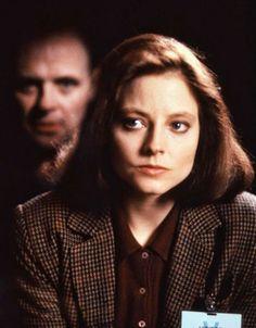 """Anthony Hopkins y Jodie Foster en """"El Silencio de los Corderos"""", 1991"""