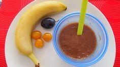 Ovsená kaša so slivkami, mirabelkami a banánom na dosladenie