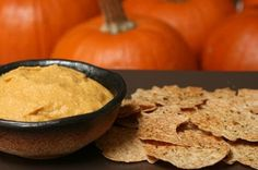 Pumpkin Hummus. Thanksgiving side dish! Healthy Thanksgiving! Here is a great appetizer to try out before you dive into your feast! www.connectthedotsginger.com