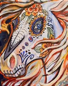 day of the dead horse by jupiterjenny on DeviantArt Sugar Skull Tattoos, Sugar Skull Art, Sugar Skulls, Sugar Skull Painting, Day Of Dead Tattoo, Day Of The Dead Artwork, Horse Artwork, Pet Day, Most Beautiful Animals