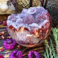 Magical Amethyst sphere via @rocksforthespirit ✨