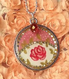 Shabby Chic Romantic Cottage Rose Hand painted by happybdaytome, $35.00