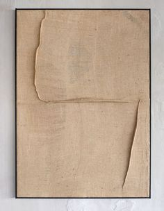 Tsuyoshi Maekawa - 2016 Sewn burlap H 132,5 cm x W 94 cm x D 8,3 cm ref