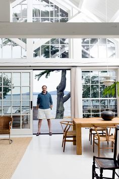 Gil Schafer, an architect known for his traditional style, created a summer house that's anything but.