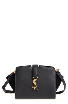 Saint Laurent Toy Cabas Leather Crossbody Bag