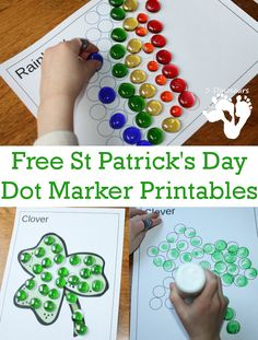 Free St Patrick's Day Dot Makers Printables - 16 pages total - 3Dinosaurs.com