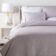 This soft, linen duvet cover is the perfect versatile item for a bedroom. Style it simply with neutral shams or dress it up with some colorful pillows and a throw.