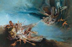 James Gleeson - On the Verge of Becoming 1997 Australian Painters, Australian Artists, Art Visionnaire, Henry Thomas, Art Society, Black And White Portraits, Modern Artists, Visionary Art, Fantastic Art