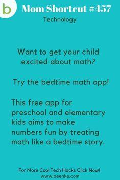 Make math fun (like a bedtime story) with this cool app. Want more educational apps and parent tech gadgets like this? Click Now! Educational Apps For Kids, Learning Apps, Educational Technology, Learning Activities, Kids Learning, Baby Activities, Tech Hacks, Tech Gadgets, Mom Hacks