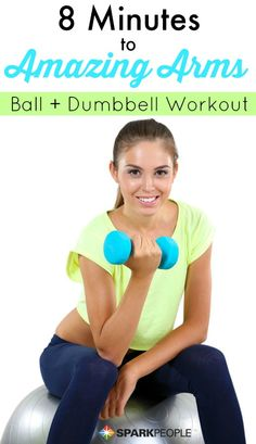 Upper Body/Back with ball and hand weights--used for Synergy