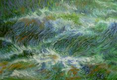 "Dorina Padineanu, ""The Wave"" pastel on paper, ~ 50/70 cm"