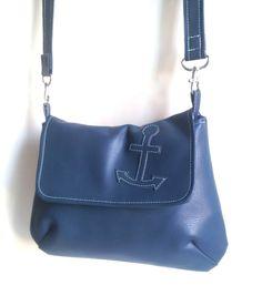 Wristlets - Handtasche LANA (versandfertig) klein blau Anker - ein Designerstück…