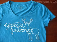 Make your own shirt using freezer paper as a stencil.