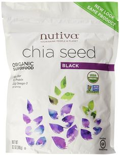 Nutiva Organic Chia Seeds (2 Pack - ORGANIC 12 Ounce) *** Click on the image for additional details.
