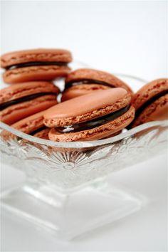Vanilla Macarons with Bittersweet Chocolate Ganache