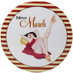 A Perfect Little Gift For Your Calendar Girl 3 Diameter Button Mirror Available
