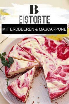 Eiscreme: Eistorte: Coole Rezepte. Um diese Torte zu beschreiben, braucht man nicht viele Worte. Ein einziges genügt schon: himmlisch. Denn mit cremiger Mascarpone und leckeren Erdbeeren ist dieser eisige Kuchen einfach ein Gedicht. Zum Rezept: Erdbeer-Mascarpone-Eistorte.