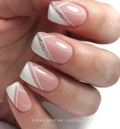 Nail art elegant _ nagelkunst elegant _ nail art élégant _ arte de u. Nail Art Designs, Manicure Nail Designs, French Nail Designs, Manicure E Pedicure, Disney Manicure, Glitter Nail Art, Nail Art Diy, Fall Nail Art, Glitter French Nails