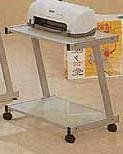 Glass Printer Stand - Coaster 7191 by Coaster Home Furnishings. $72.20. Here is a Glass PrinterStand from Coaster to add toand complete your glass home office set. This printer stand iscomplete with a printer shelf and an additional shelf for extra storage, each shelf is a frosted glass.Thisprinter cart from Coaster is usually in stock and will ship at no additional cost to you. See additional features below.Coaster Printer Stand Features:Glass Printer ShelfAdditional...